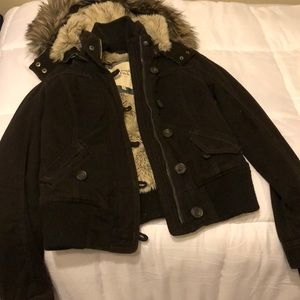 Abercrombie and Fitch brown coat - size small